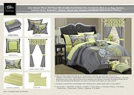 home design comforter amazon com chic home olivia 20 piece comforter set reversible