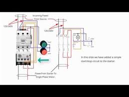 single phase starter connections youtube intended for single