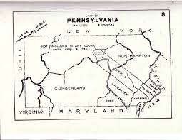 Pennsylvania County Map by Civil War Blog Historical County Maps Of Pennsylvania
