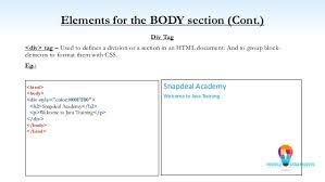 html div tag html html5