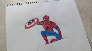 how to draw spider man sketch simple and easy step by step for