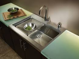 Kitchen Inexpensive Undermount Stainless Steel Kitchen Sink For - Kohler corner kitchen sink