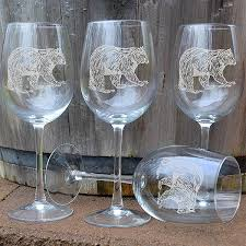 wine sets napa valley 16 oz etched wine glass sets cabin place