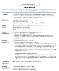 veteran resume sample veteran resume 8 6 sample military to
