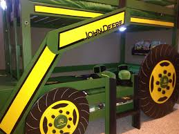 All In One Loft Twin Bunk Bed Bunk Beds Plans by Ana White John Deere Tractor Bunk Bed Diy Projects