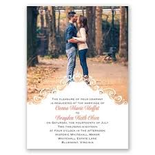 wedding invitations with pictures filigree crest photo wedding invitation available in 40 colors