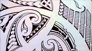 how to sketch a tribal polynesian maori shoulder tattoo youtube