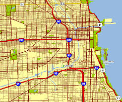 chicago map city map of chicago