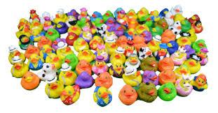 mega lot 100 mini rubber ducks favors carnival