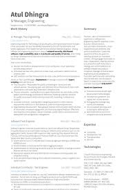 download network test engineer sample resume