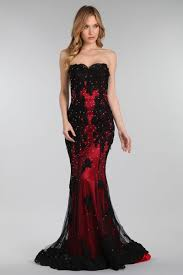 strapless prom gown ft40081
