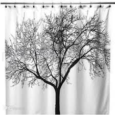Shower Curtains With Trees Black White Tree Silhouette Shower Curtain Tree Designs