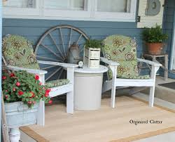 Vintage Adirondack Chairs Organized Clutter Vintage Decor On The Covered Patio 2015