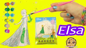 disney frozen fever coloring paint painting queen elsa craft