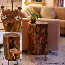 Tree Stump Side Table How To Make A Tree Stump Side Table Do It Yourself Ideas
