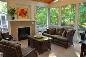 screened in patio designs screened back porch with fireplace