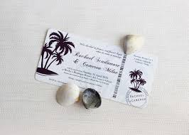 Boarding Pass Wedding Invitations Tropical Paradise Boarding Pass Wedding Invitation Be My Guest