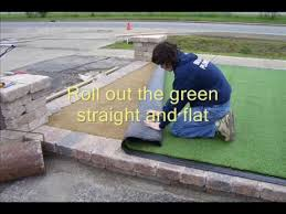 synthetic putting green installation youtube