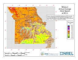 missouri map windexchange missouri 80 meter wind resource map