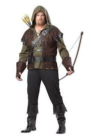 mens plus size robin hood medieval gothic archer fun