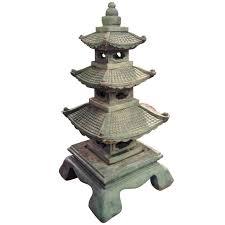 decoration in pagoda garden decor three beautiful lanterns