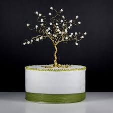 magnolia tree wedding cake topper wire tree sculpture with white