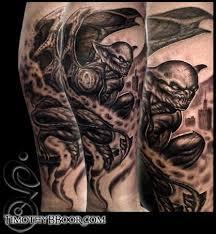 gargoyle reaper mythical greywash tattoo design in 2017 real