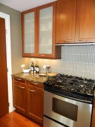 walnut wood sage green lasalle door frosted glass kitchen cabinet