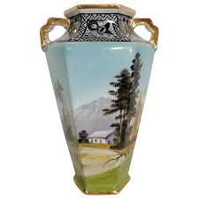 Vase Deco Japanese Art Deco Vase By Noritake Circa 1940s For Sale At 1stdibs