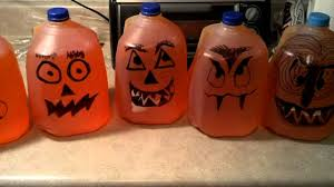 lighted pumpkins for halloween make halloween pumpkins or ghost from milk jugs youtube