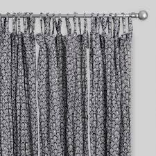 Tie Top Curtains Black Shell Print Crinkle Voile Tie Top Curtains Set Of 2 World
