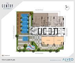 condominium plans the gentry residences condo in makati alveo land
