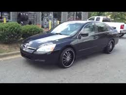 2013 honda accord with 20 inch rims 2007 honda accord sitting on elure 20 rims wrapped in lexa