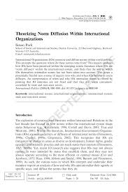 theorizing norm diffusion within international organizations pdf