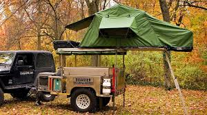 jeep pop up tent trailer tiny pop up trailer hides all your camping needs gizmodo australia