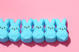 easter marshmallow candy blue easter candy marshmallow rabbits stock photo image of