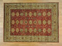 Renaissance Rug 9 U0027 X 12 U0027 Karajeh Tribal Design Hand Knotted 100 Percent Wool