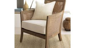 Crate And Barrel Sofa Cushion Replacement Blake Rattan White Cushioned Chair Crate And Barrel