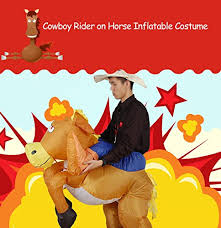 Inflatable Costume Halloween Inflatable Cowboy Costume Halloween Party Blow Inflatable Suit