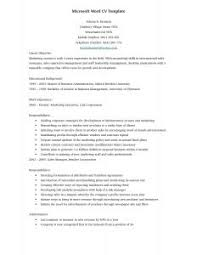 Professional Resume Template Word 2010 Resume Template Free 6 Microsoft Word Doc Professional Job And