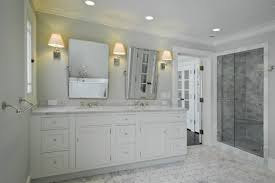 bathroom bath room with shower and vanity cabimet with double