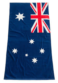 australian flag pool u0026 beach towel