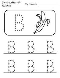 alphabet letter b baker standard block font handwriting practice