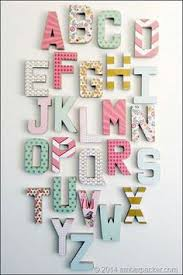 14 ways to decorate cardboard letters cardboard letters letters