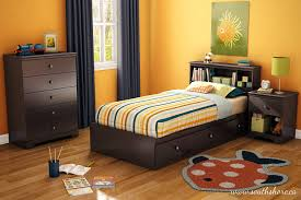 Twin Bedroom Set For Boys Amazon Com South Shore Zach Storage Bed Twin Chocolate Kitchen