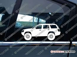 jeep grand cherokee stickers 2x lifted jeep grand cherokee wj offroad 4x4 truck silhouette stickers