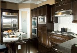 Glass Stainless Steel Hanging Rang Hood Dark Kitchen Cabinet - Wall mounted kitchen cabinets