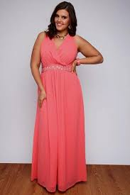 coral maxi dress plus size naf dresses
