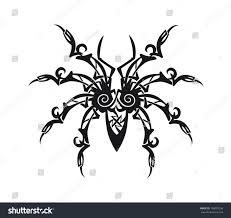 ornament spider stock vector 196070336
