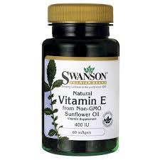 swanson premium natural vitamin e from non gmo sunflower oil 400